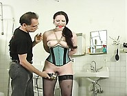 Powerless Young Cutie Gets Totaly Tied Up And Thonged