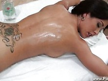 Capri Cavalli Is Back For Another Massage.  Part 2