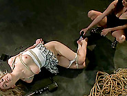 Sybian Pleasure Torture In Bondage Video For Blonde Nipple Tortu