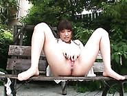 Yuri Sato Posing While Masturbating And Squirting Outdoors