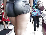 Fat Bottomed Chick In Tight Denim Shorts Caught My Attention