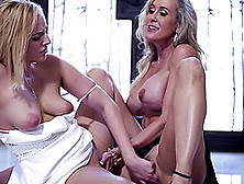 Brandi Love Shows Kate England Her Awesome Lesbian Tricks
