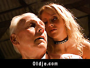 Busty Blonde Teen Is Grandpa's Addiction In A Hot Sex Scene