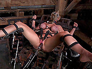 Bondage Dame Pussy Drilled With Machine Superbly In Bdsm