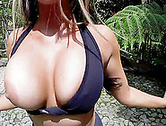 Angelic Babes With Fake Tits Displaying Her Big Ass Then Getting