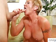 Granny With Big Silicone Tits And Cheese Ass Is Up For A Cock Ri