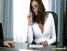 Huge Stacked Secretary Sensual Jane Is Fucked By Hot Tempered Bo