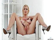 Marvelous Busty Blonde Milf Fingering Solo