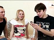 Luscious Virgin Having Trio Sex