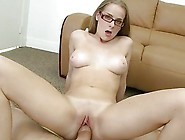 Emily Harper With Glasses Gets Screwed