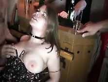 Big-Chested Youthfull German Pounded In A Gang-Bang