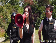 Slutty Police Officer Saves The Day