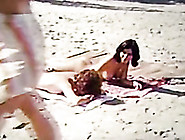 Awesome Group Sex On The Beach With Skinny And Slutty Blonde Bab