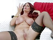 Busty Redhead Milf From Adultlovedating. Com Self Fingering