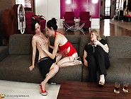 These Three Women Start Getting It On After Some Drinks