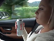Girl Pees In The Woods After Drinking In The Car