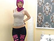 Arab Muslim Dancing In Hijab
