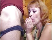 Hairy Saggy Mature Enjoys A Young Cock In All Holes