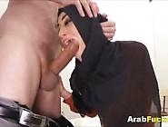 Genuine Arabian Amateur Receives Mammoth Euro Fuck Rod