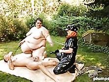 Plumperd. Com Femdom Bbws Treat Their Slave Rough