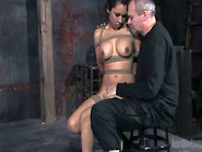 Shibari Chick Nataly Is Face Fucked In The Dungeon