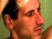 Tattooed Straight Redneck Masturbates Under The Shower