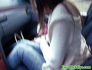 Girl Masturbates In Car For Cash