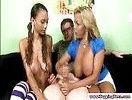 Handjob Teen Gets Tug Lesson From Big Titted Milf