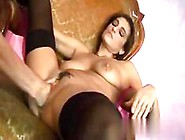 Busty Milf Fingered And Fisted In Her Black Stockings