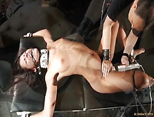 Tight Ropes Ball Gag Hard Fuck For Slutty Slave Bad Behaving