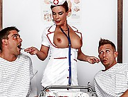 Slutty Nurse Diamond Foxx Gives Her Patients Special Treatment