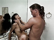 Perfect Ass Raven-Haired Gal Gets Her Holes Cleaned By White Too