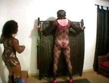 Slave Gets Whipped By Black Domme From Blackscrush. Com