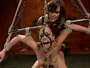 Audrey Rose Has Constrained And Tormented In Lesbian Sadism Acti