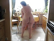 Butt Naked Cleaning Lady