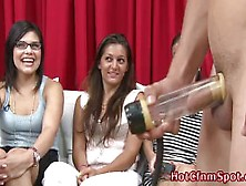 Cfnm Babes Watch Cock Pumping Victim