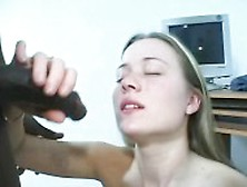 Interracial Accidental Creampie.  Also He Comes On Her.