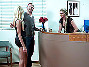 Ffm Threesome Done Office Style Shows Porn Star Blondes Breanne