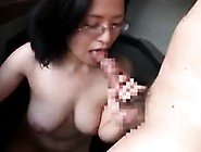 Nerdy Oriental Cutie With Big Natural Boobs Delivers A Grea