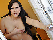 Hot Busty Brunette Latina Teen Slut Caught Masturbating Is Fucke