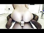 Hot Asian Riding Dildo On Webcam