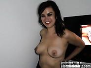 Brunette Slut Pussy Fucked In Glory Hole