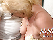 Ugly Fat And Nerdy Blonde Mature Slut Sucks Strong Dick And Gets