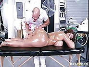 A Bald Man Is Very Excited,  While Fucking His Busty Client,  On T