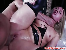 image Subdued wrapped squirter gets roughly fucked