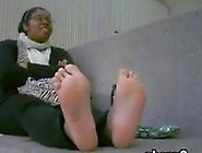 Cute Ebony Girls Smelly Soles Being Shown