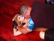 Blonde Superheroine Takes Brutal Banging