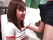 Wondrous Japanese Teen With Small Boobs Is Sucking Schlong