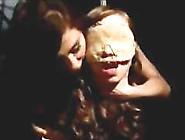 Blindfolded Bondaged Girl Getting Tortured With Shocking Device