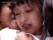 Asian Shaved Teen Wet Pussy Finger Teased In Close-Up